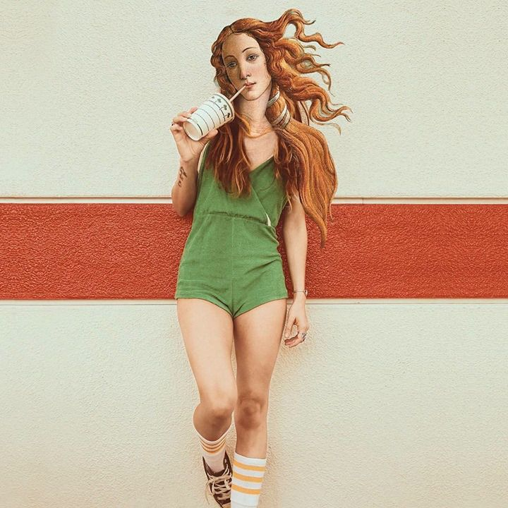#Hipster #Venus of Botticelli - #Contemporay #Classics - be artist be art magazine