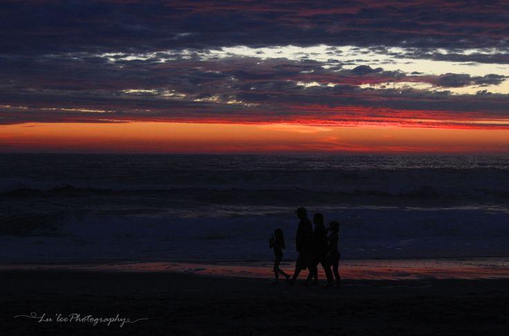 Silhouette on the Namibian coast - Hentiesbay