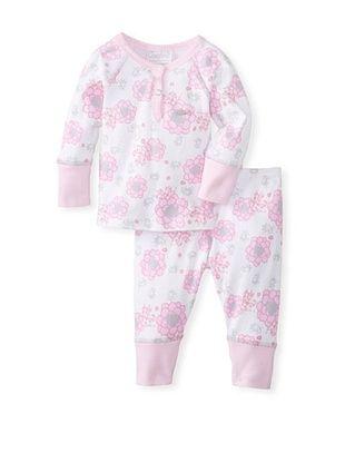 62% OFF Coccoli Baby Newborn Time To Dream Loungewear Set (Light Pink Flower Print)