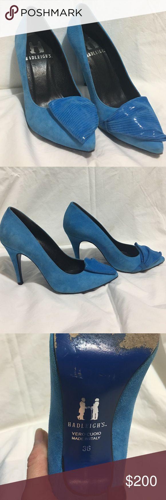 Hadleigh's pumps Hadleigh's Vero Cuoio blue suede pumps. Made in Italy. Leather insole. Size 36. Condition: Used but in good shape. Hadleigh's Shoes Heels