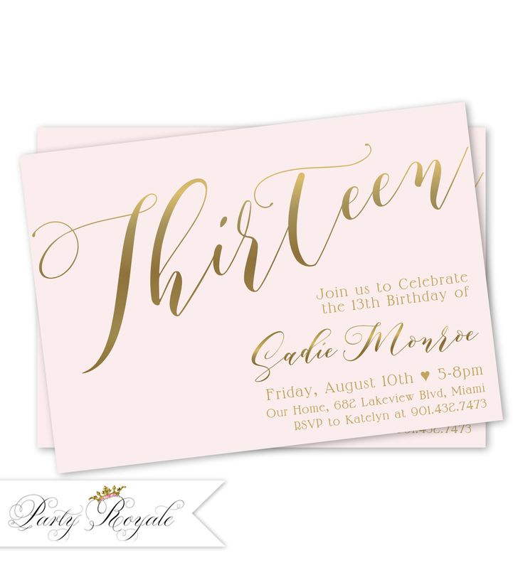 224 best Teen Birthday Invitations images on Pinterest Teen
