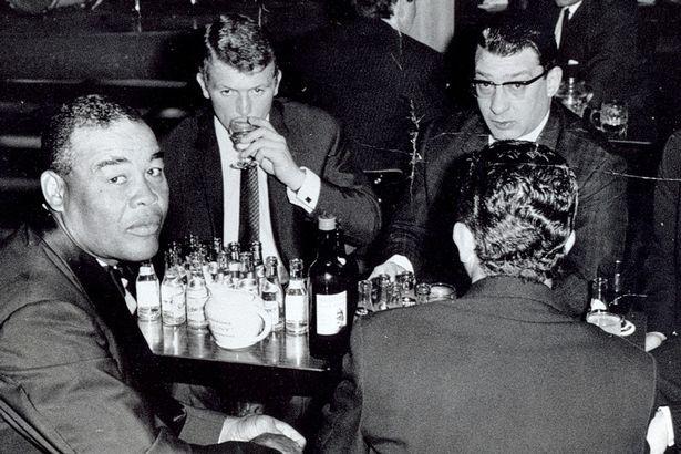 The Kray Twins with former world boxing champion Joe Louis at La Dolce Vita nightclub, Newcastle, mid-60s