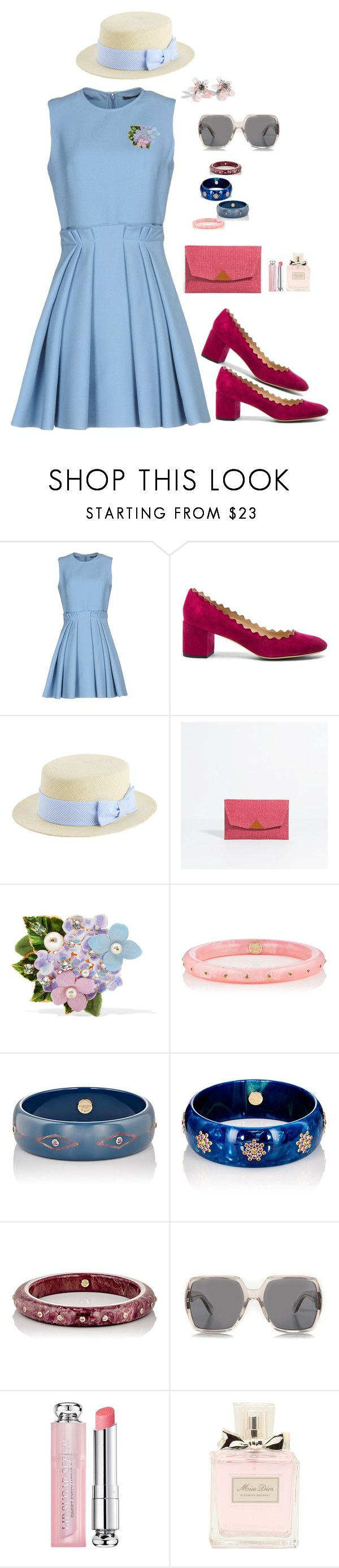 """""""Garden party, 2."""" by srtagraham ❤ liked on Polyvore featuring Alexander McQueen, Chloé, Dolce&Gabbana, Mark Davis, Yves Saint Laurent and Christian Dior"""