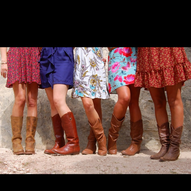 Sundresses and boots :)