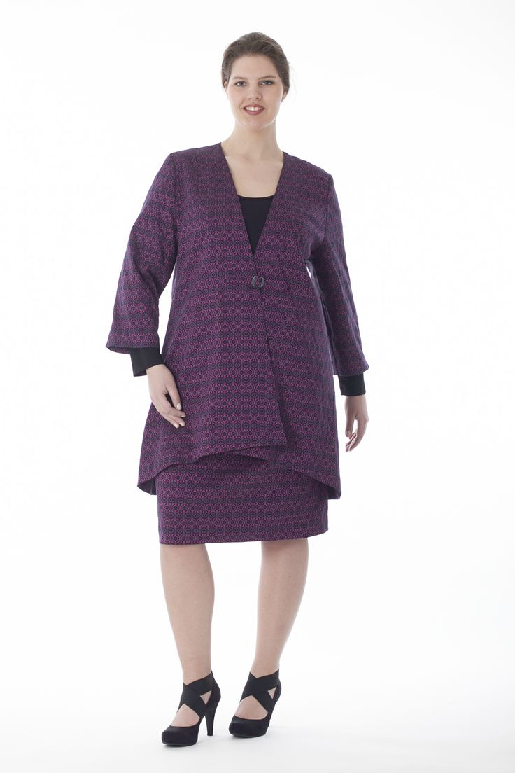 exelle suit, woven jacquard with elastan