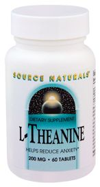 Source Naturals                     L-Theanine 200 MG, 60.0 Each , Tablets