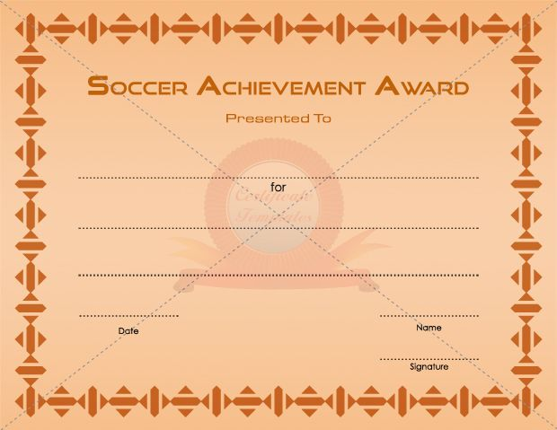 7 best SPORTS CERTIFICATE TEMPLATES images on Pinterest Soccer - certificate of origin template free