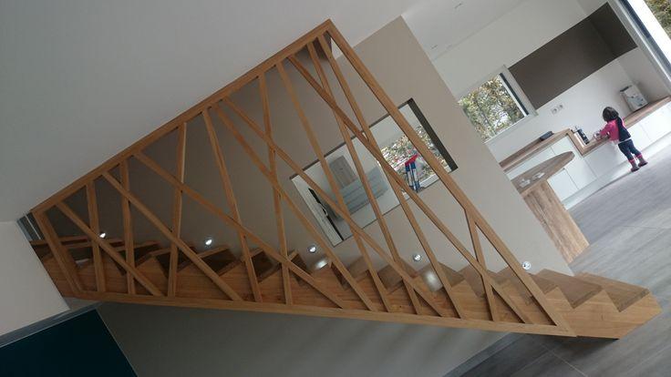 Garde corps escalier en bois