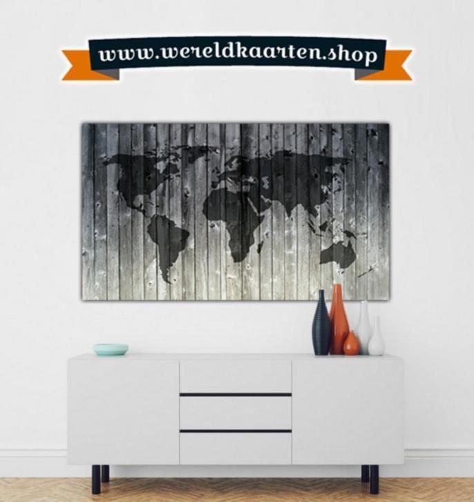 De mooiste Wereldkaarten als print op o.a. Canvas en Hout.