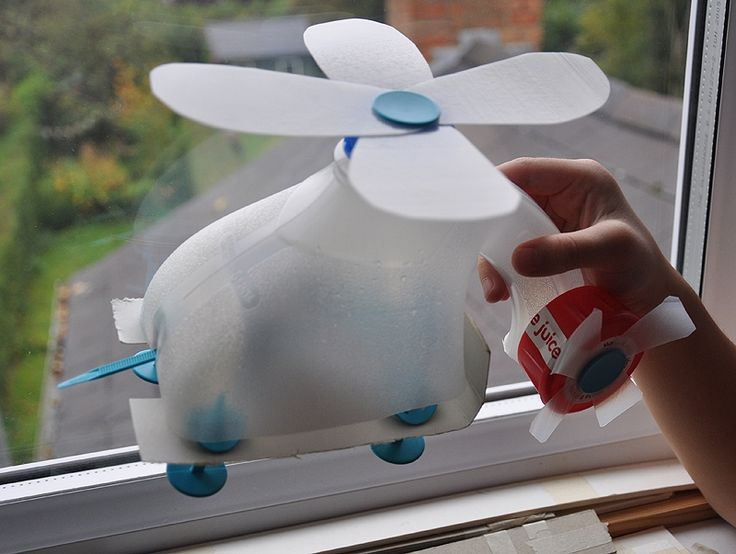 how to make a plastic cup helicopter