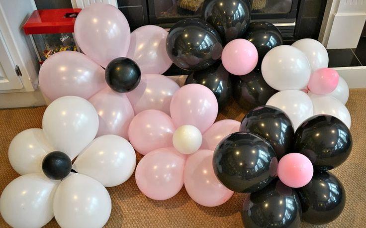 DIY Balloon Flowers   Issa's 1st bday   Balloons, Balloon ...