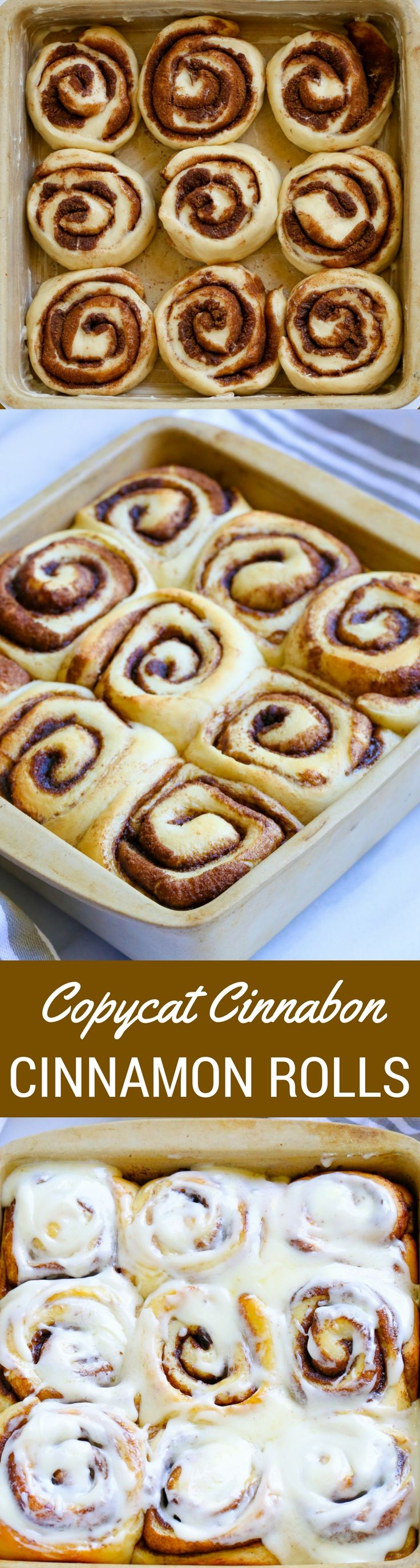 The BEST copycat CINNABON CINNAMON ROLLS recipe. These scrumptious homemade cinnamon rolls are soft, warm and fluffy with delicious icing. This famous comfort food recipe is a perfect dessert for any occasion. PIN NOW FOR LATER!