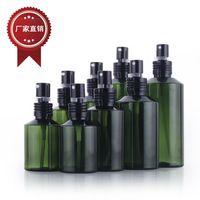 50 ml 100 ml 150 ml 200 ml PET Botella DEL Aerosol de Plástico Verde, Cosméticos Botella de Loción, Botellas Vacías