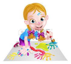 Resultado de imagen para niñas mezclando pinturas