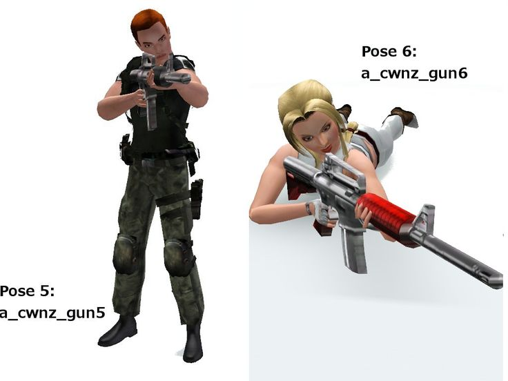 Mod The Sims - A collection of 12 poses using Gun (updated 10/06/11)