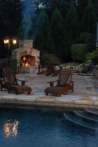 fireplaces and fire pits, concrete masonry, fireplaces mantels, outdoor living