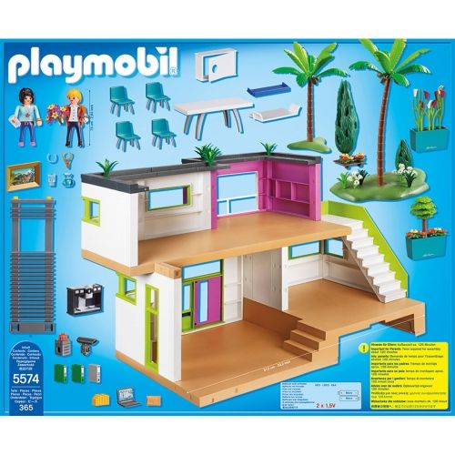 Maison moderne playmobil city life 5574 tommy aime for Chambre playmobil