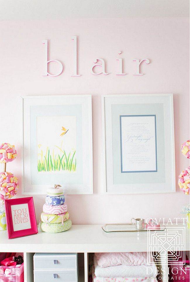 Benjamin Moore Wispy Pink paint color via Oviatt Design Group.
