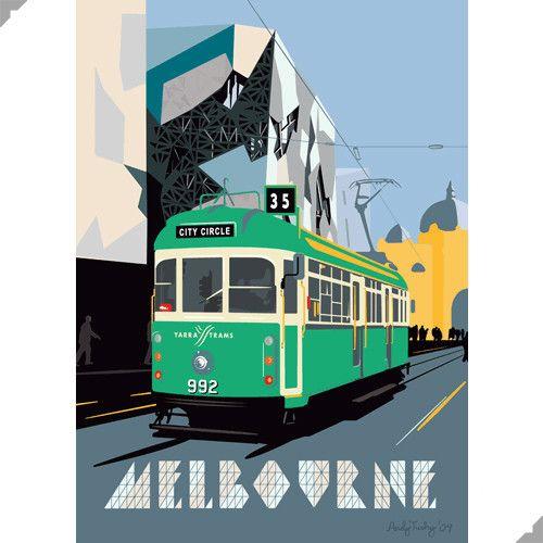 Yarra Tram, Melbourne Print