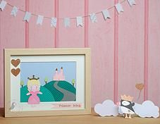Pink Puffin Crafts | Framed Collection | Princess | £22.50 | www.pinkpuffincrafts.co.uk