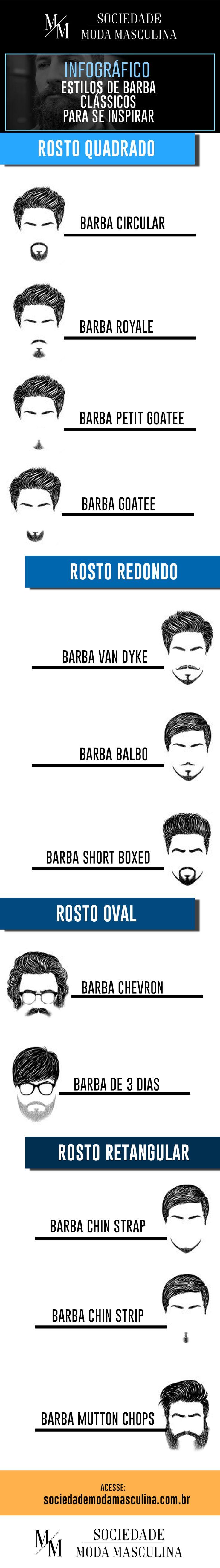 estilos de barba clássicos