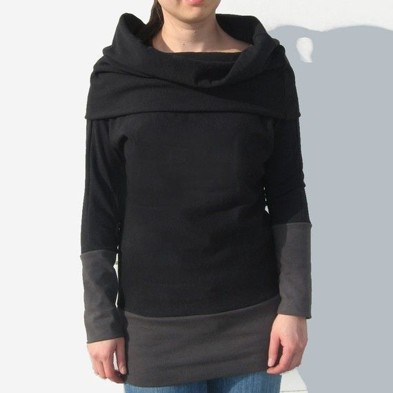 The Oversized Cowl Sweater in Cotton Jersey/ by finchdesignsf,