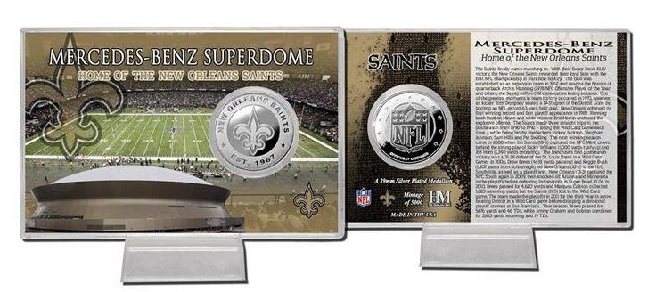 New Orleans Saints Silver Coin Card - Stadium