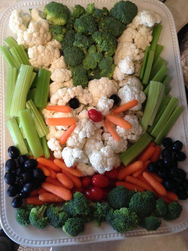 Easter veggie tray :)