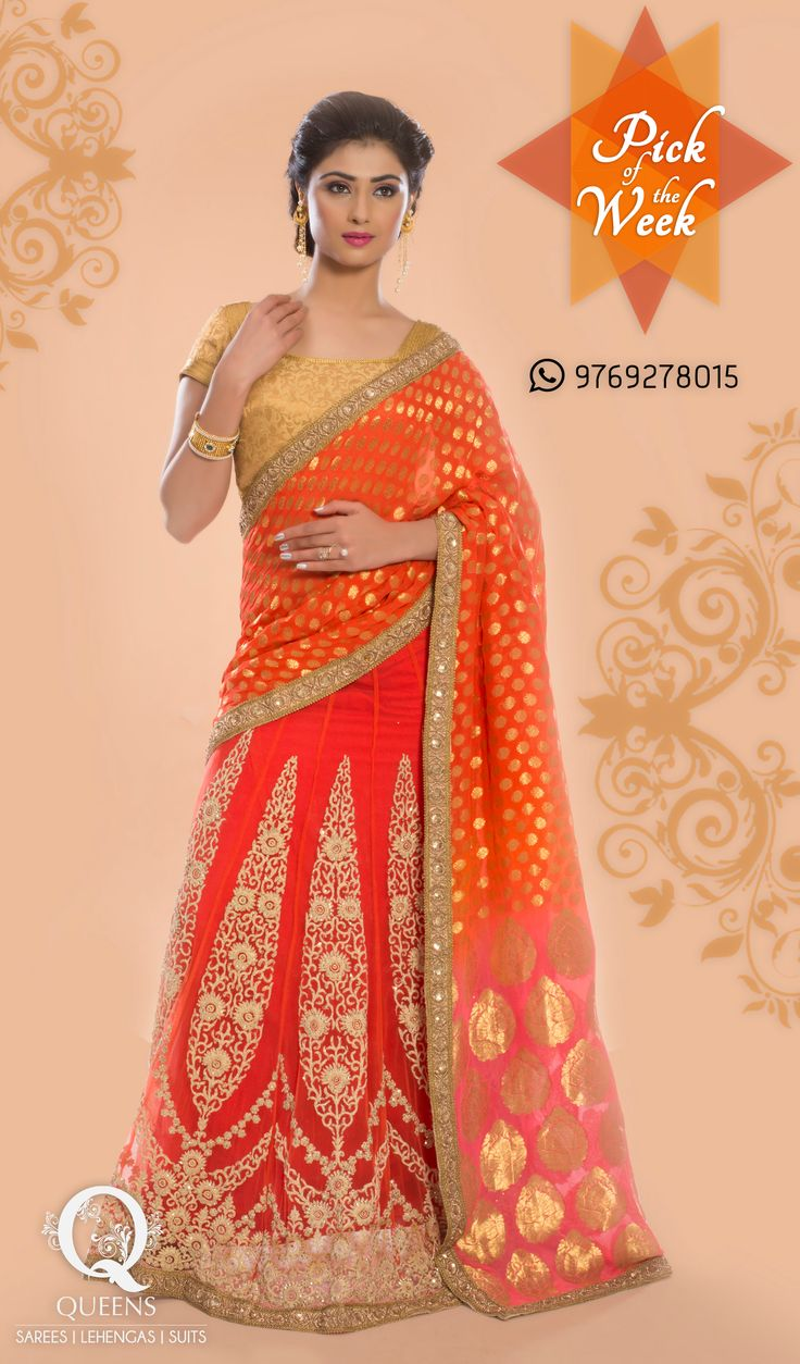 Whatsapp us on 9769278015 to know more about this ensemble or visit us on http://bit.ly/QueensEmporium ‪#‎QueensEmporium‬ ‪#‎Sarees‬
