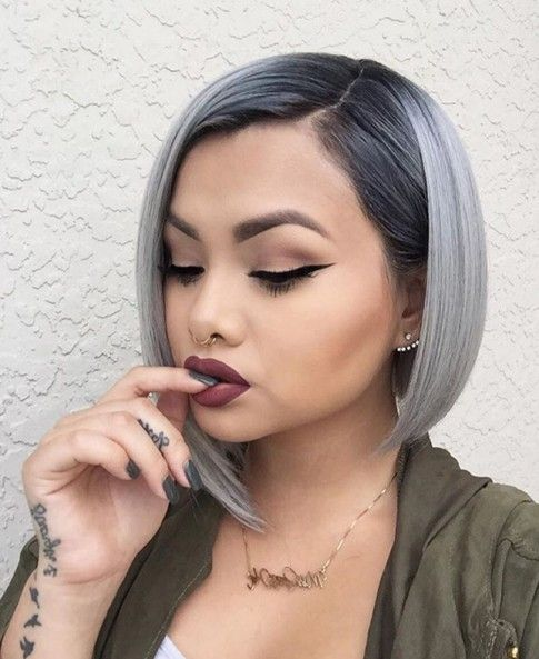 20 Trend-setting Hair Style Ideas for Black Women& Girls - PoPular Haircuts | Wig hairstyles, Short ombre hair, Ombre hair color