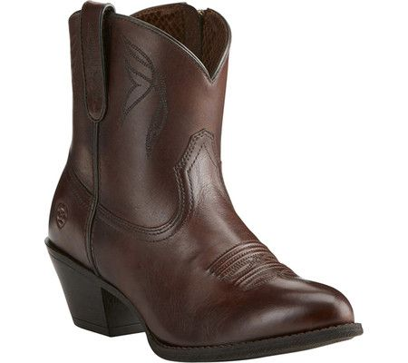 c223f4b4c0c4 Women s Ariat Darlin Ankle Boot - Naturally Dark Brown Full Grain Leather  with FREE Shipping