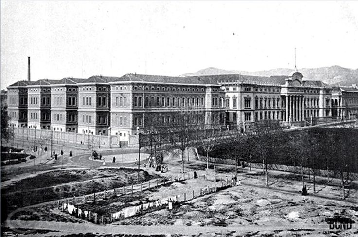 Hospital Clínico Hospital Clínic - 1906 Hospital Clinico, como puede verse estaba bastante separado de los edificios, cosa que entonces se hacia con frecuencia para evitar contagio