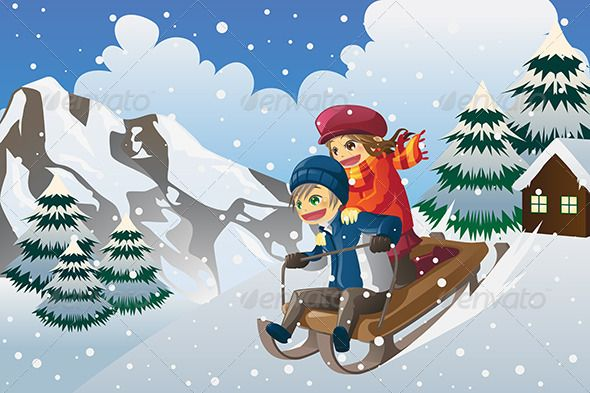 Kids Sledding in the Snow #GraphicRiver A vector illustration of kids sledding down the hill in the snow. Vector illustration, zip archive contain eps 10 and high resolution jpeg. Created: 17October13 GraphicsFilesIncluded: VectorEPS Layered: No MinimumAdobeCSVersion: CS Tags: active #activity #boy #cartoon #cheerful #childhood #children #drawing #female #girl #illustration #kids #leisure #male #outdoor #outside #people #playful #playing #recreation #season #seasonal #sled #sledding #snow…
