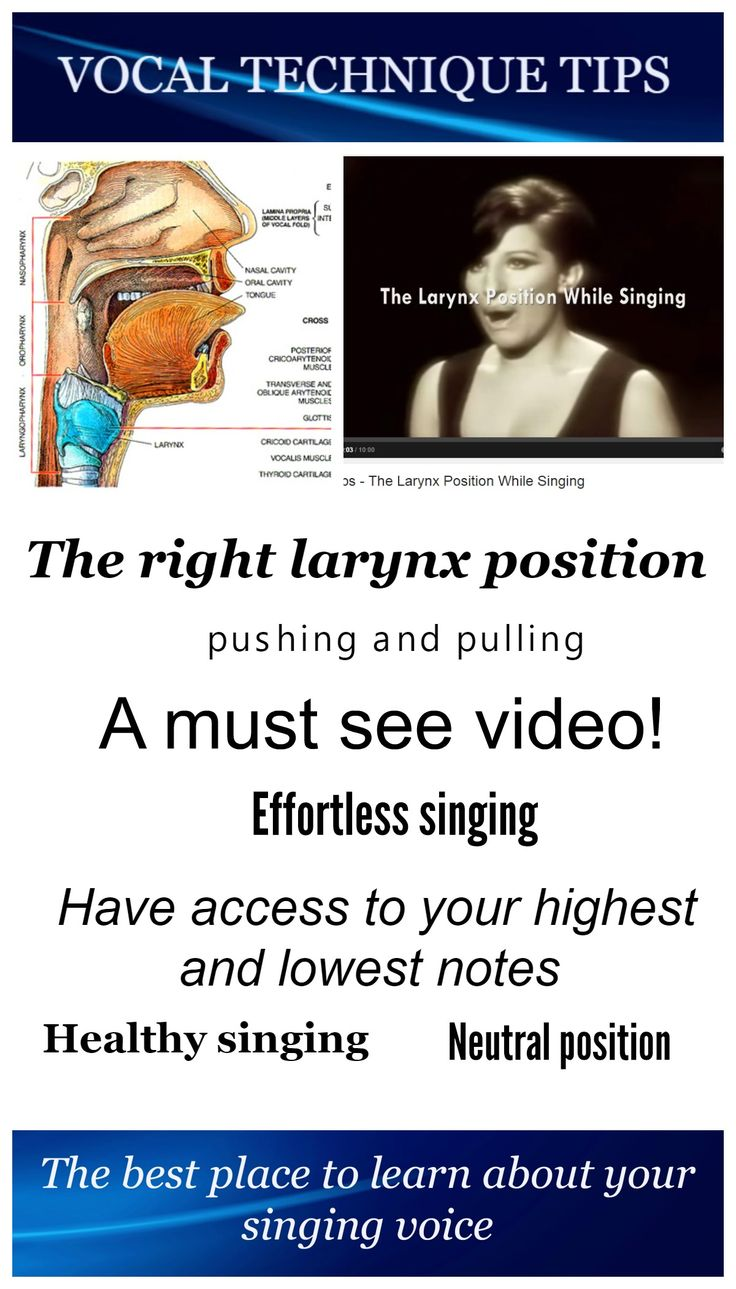 The right larynx position in your throat is crucial if you want to sing in a healthy way. When you sing, the neutral position is the best way to sing. It is the position most people use when speaking. High notes ask for a little higher larynx position than low notes. Also, the opera sound asks for a little lower position and baroque for a little higher.#singing#voice#vocal#technique#tips#voicebox#larynx#neutral