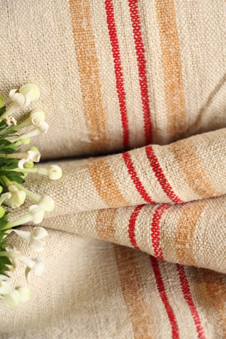 P 469 antique hemp linen roll 18.58 yards RED CARAMELL grainsack fabric wedding 19.69 wide decor lin by grainsack on Etsy