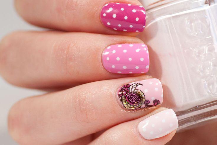 Pink Skittle Nail Art