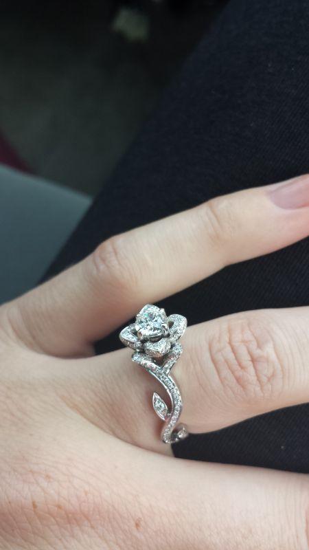 Sleeping Beauty-esque Rose Shaped Ring