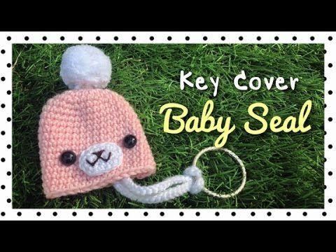 โครเชต์ที่ครอบกุญแจแมวน้ำ (Crochet Baby Seal Key Cover/English Subtitles) - YouTube