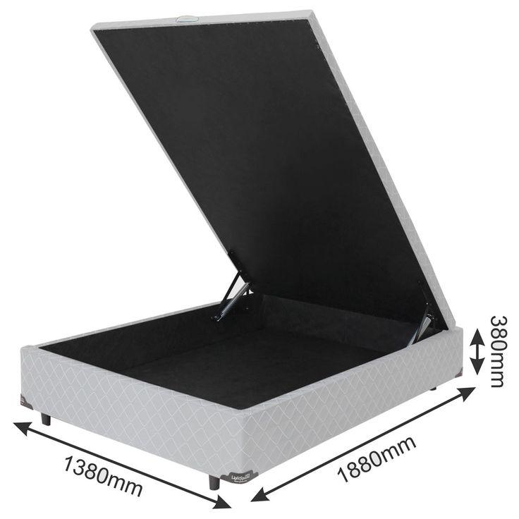 Base Box para Colchão Casal Somopar Imperador com Baú 33x138x188 cm – Branco | CasasBahia.com.br