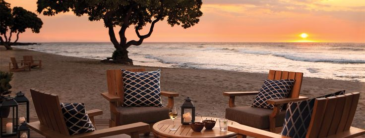 Four Seasons Hawaii At Hualalai.  Had drinks here once and want to go back and stay.  Absolutely beautiful!