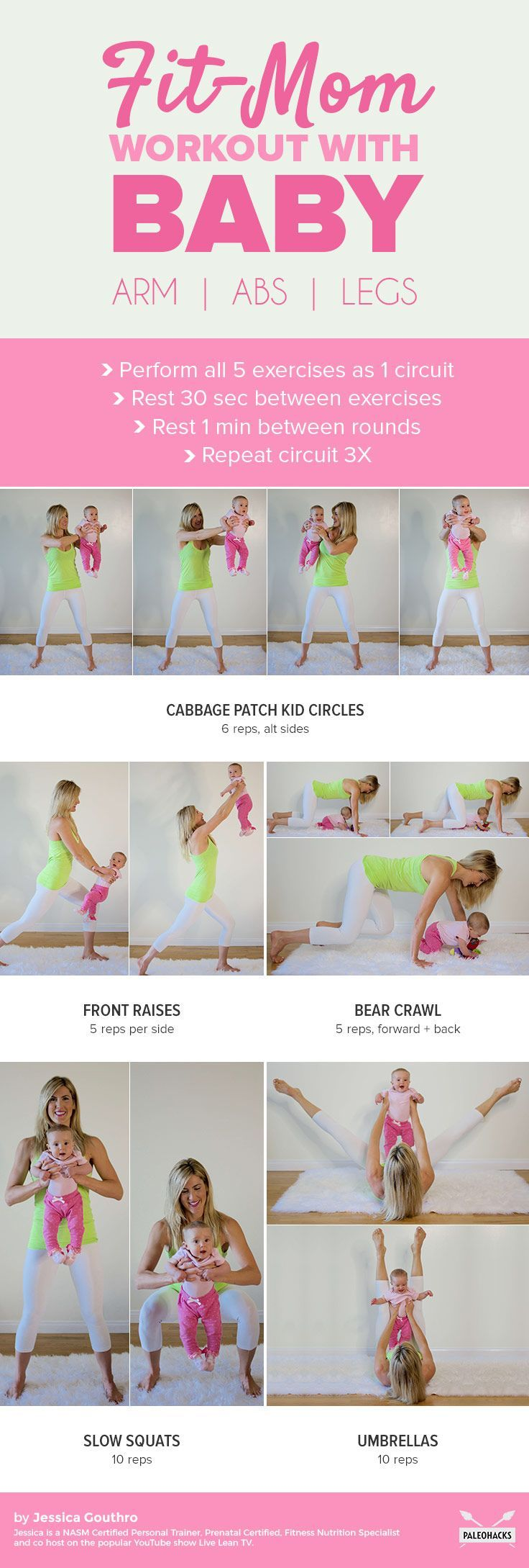 5 Mom & Baby Exercises to Flatten Abs and Strengthen Arms