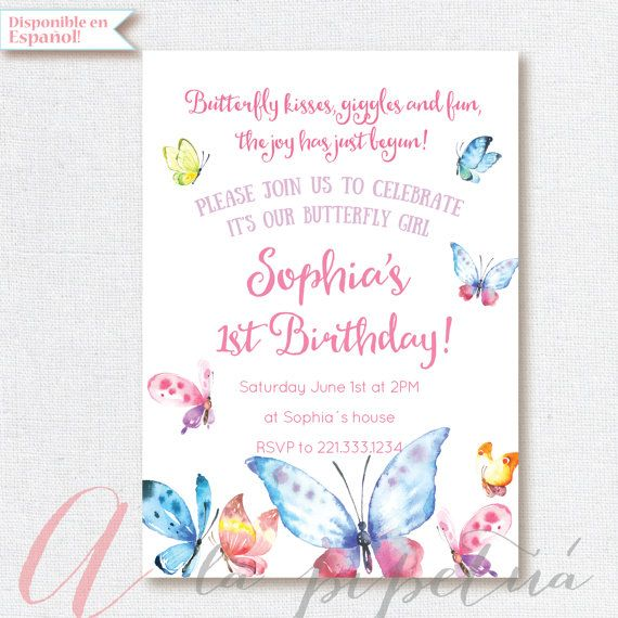 Best 25 Butterfly invitations ideas – Butterfly Party Invitation