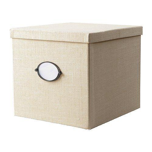 KVARNVIK Boîte avec couvercle - blanc, 32x35x30 cm - IKEA