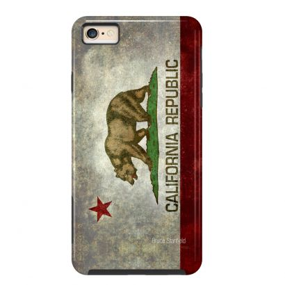 ArtsCase :: The LifeStyle | California Republic State for Apple iPhone 6 #California #flag #bear #hollywood #america #usa #aged #state #red #symbol #star #old #distressed #emblem #west coast #illustration #icon #retro #texture #grungy #los angeles #patriotic #patriotism #vintage #grunge# textured #american #republic