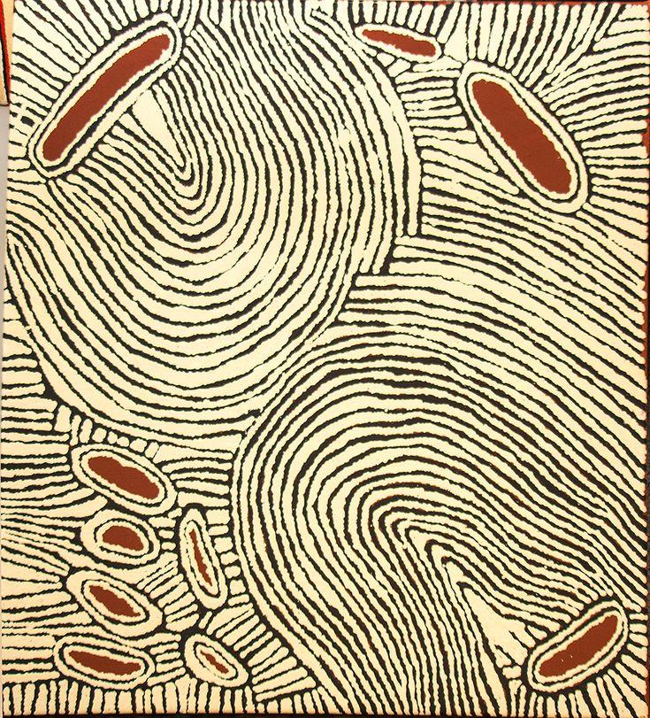 Rockhole of Umari (water dreaming stories) http://www.aboriginalsignature.com/art-aborigene-papunya-tula/rockhole-of-umari-water-dreaming-stories