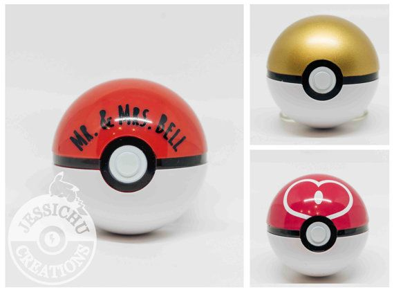 Pokemon Pokeball Ring Box I Choose You by JessichuCreations