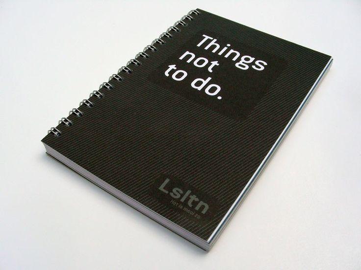 "Notitieboekje ""Things not to do"""