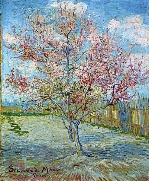 "Vincent van Gogh (1853-1890), ""Pink Peach Trees"" (""Remember Purple"") -Kröller-Müller Museum ~ Otterlo, The Netherlands"