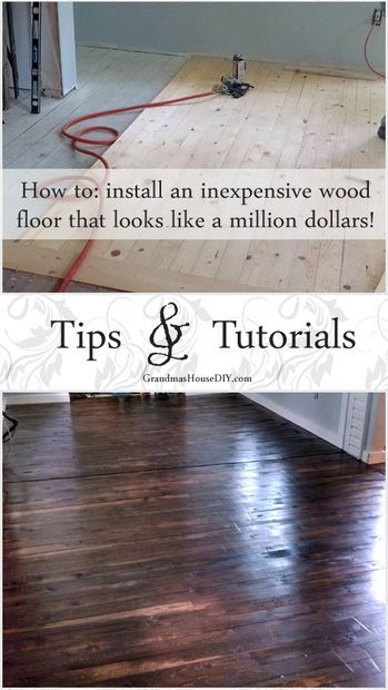 How to install an inexpensive wood floor www.bestcoasthandyman.com