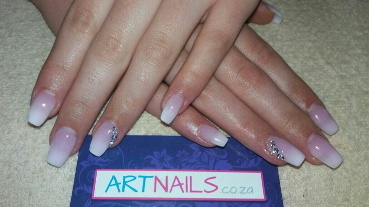 French ombre acrylic nails I did